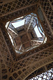 Looking through Eiffel Tower, Paris, France Stock Image