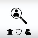 Looking For An Employee Search icon, vector illustration. Flat d Stock Image