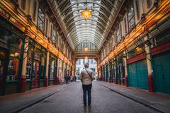 Looking into far away at the Leadenhall Market royalty free stock photos