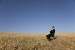 Looking at the field Stock Images