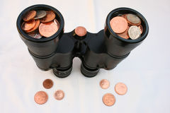Looking at finance. Stock Images