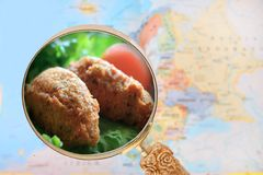 Looking in on fish cakes Royalty Free Stock Image