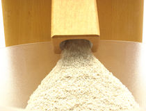 Looking at a flour mill Royalty Free Stock Photography