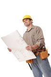 Looking forward with blueprints Stock Photography