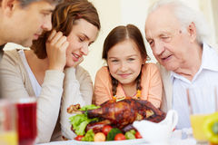 Looking forwards to meals Royalty Free Stock Images