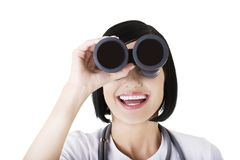 Looking in the futere of health care. Royalty Free Stock Photo