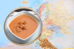 Looking in on Gazpacho soup from spain Stock Photography