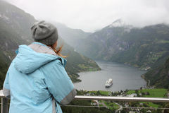 Looking at Geiranger Royalty Free Stock Image