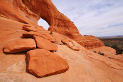 Looking Glass Arch. Near Moab Utah Royalty Free Stock Image