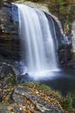 Looking Glass Falls in Autumn, North Carolina Stock Photography