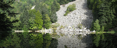 Looking-glass lake in the Vosges Royalty Free Stock Photography