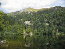 Looking-glass lake in the Vosges Royalty Free Stock Photo