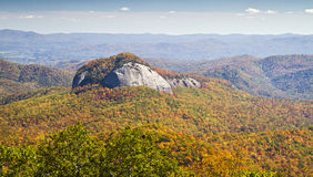 Looking Glass Rock in Autumn, Blue Ridge Parkway Stock Images