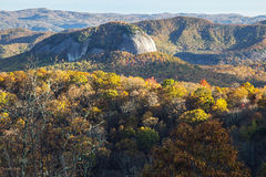 Fall Colors And Looking Glass Rock In Pisgah National Forest Royalty Free Stock Image