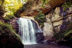 Free Looking Glass Waterfall Breward NC Royalty Free Stock Photography - 125970397