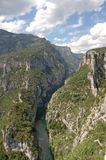 Looking into Gorges du Verdon. From viewpoint Stock Photos
