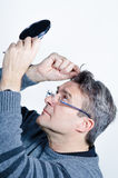 Looking for gray hair Royalty Free Stock Image