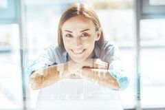Close up of optimistic business woman Stock Images