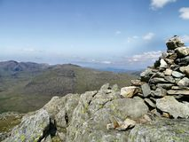 Looking from Grey Friar summit to the main Southern Fells Royalty Free Stock Photos
