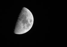 Looking at Half Moon at night Royalty Free Stock Image