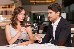 Looking happy and romantic Stock Image