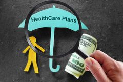 Looking for health insurance Stock Image