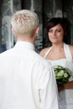 Looking at his bride Royalty Free Stock Images