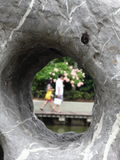 Looking through the hole Stock Photos