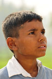 Looking for hope. Portrait of a poor indian child Stock Image