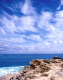 Looking at the horizon. Sky with clouds royalty free stock images