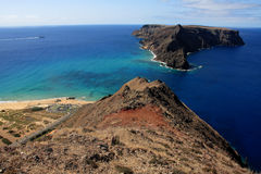 Looking at Ilheu de Baixo, Porto Santo Royalty Free Stock Images
