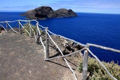 Looking at Ilheu de Ferro. In Porto Santo, Madeira Islands, Portugal Stock Photo