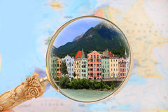 Looking in on Innsbruck, Austria Royalty Free Stock Images