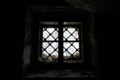 Looking from inside. Look from inside the old abandoned cellar royalty free stock photo