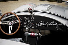 Looking inside a Carroll Shelby 427 AC Cobra Royalty Free Stock Images