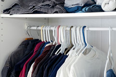 Looking inside closet Stock Image