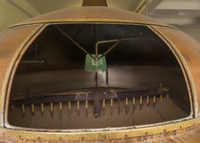 Looking inside the mash tun. Looking inside the mash tun at Brewery 'Het Sas' in Boezinge, Belgium stock photos