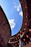 Looking Inside Of Earth Castle, South Of China Royalty Free Stock Photo