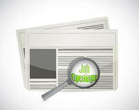Looking for job openings in a newspaper. Illustration design over a white background Stock Photos