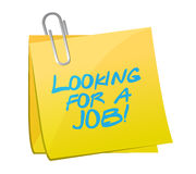 Looking for a job post illustration Royalty Free Stock Photos
