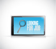 Looking for a job tablet message illustration Royalty Free Stock Images