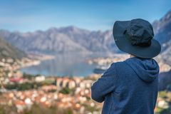 Looking at the Kotor bay from above royalty free stock image