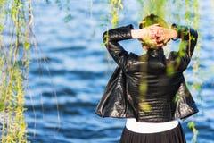 Looking at the lake Royalty Free Stock Image