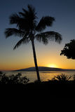 Looking at Lanai from Maui. View of Lanai from Baby Beach on Maui Royalty Free Stock Image