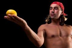 Looking at lemon Royalty Free Stock Photography