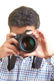 Looking through a lens Stock Image