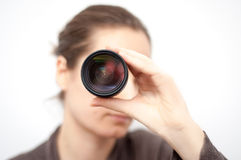 Looking through the lens Royalty Free Stock Image