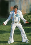Looking like a king. King creole elvis impersonator at collingwood ontario Royalty Free Stock Photography