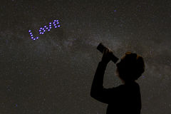 Looking for Love in the stars Royalty Free Stock Image