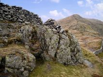 Looking from Low Pike to High Pike, Lake District Royalty Free Stock Images
